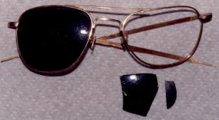 Walter Ray glasses A-12 928 crash