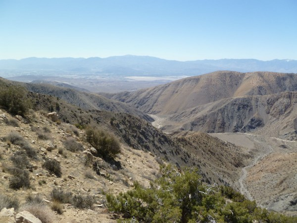 Looking westerly off the Fan Canyon Overlook.