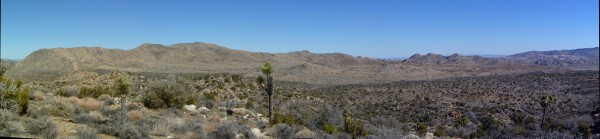 A panorama of Juniper Flat from Tandy Point. That's Quail Mountain and the Quail ridge toward the left side of the image.