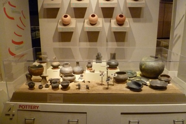 Cahokian pottery. Not as flashy as some southwest pottery, but functional. And some pieces were pretty damn big.