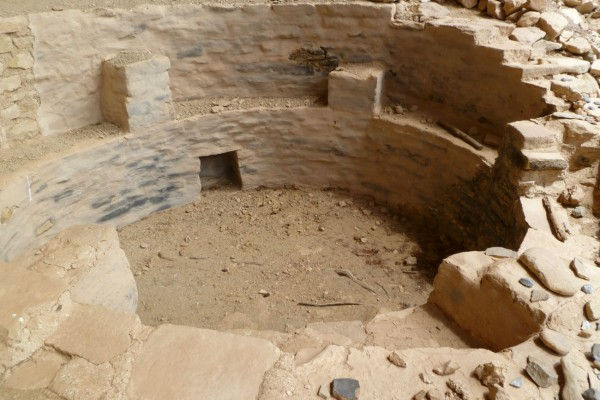 The inside of a kiva at the Tree House Ruin. It was in excellent condition with the walls still plastered.