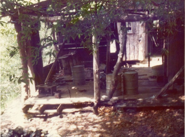 This was the open air workshop. There's a cabin behind it.