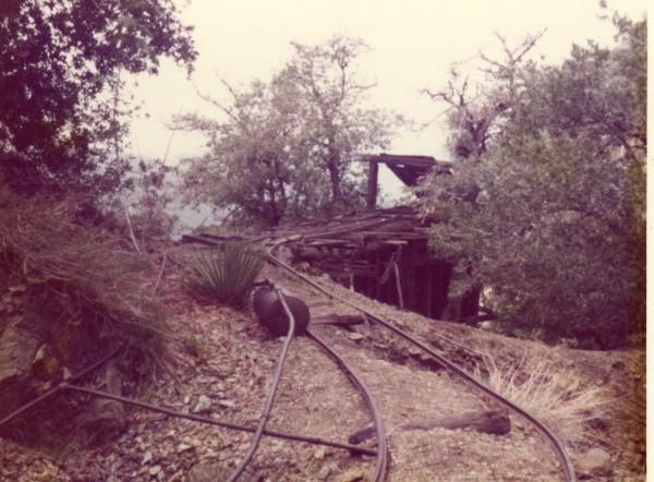 The ore dump area.