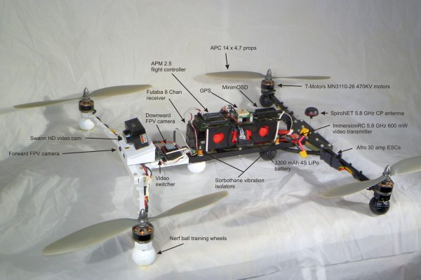 Folding Composite H-Quad parts layout