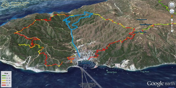 Catalina hike route