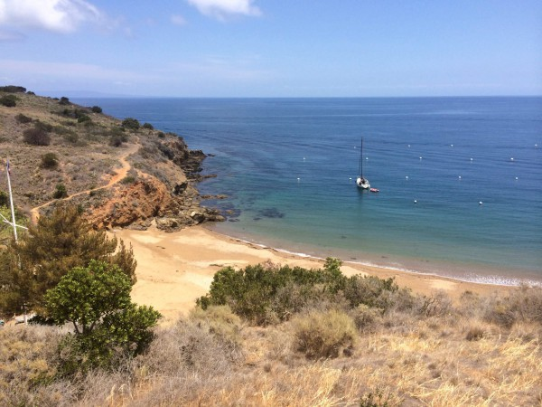 One of the many secluded coves along the bike route. Hard to believe this is still California.