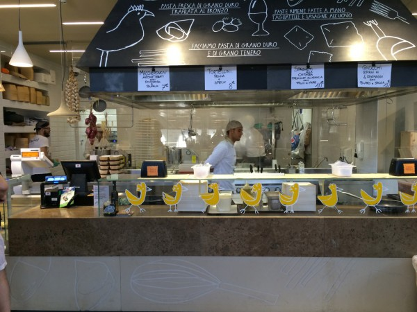 One of the typical food court stalls, in this case, artisnal  pasta. We ate here a couple of times and it was excellent.