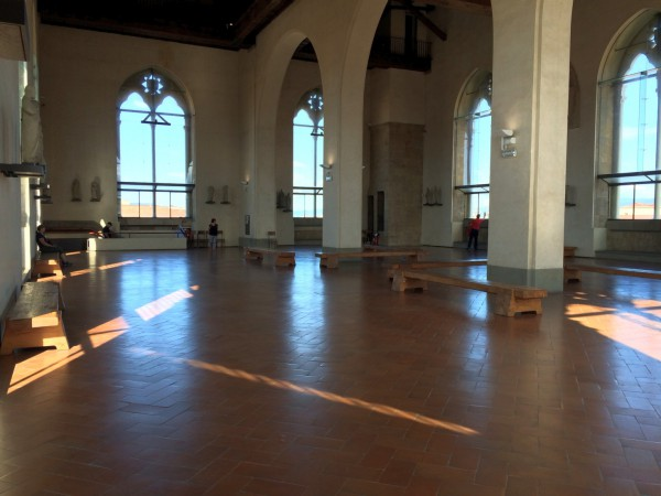 The deserted top floor of Orsanmichele