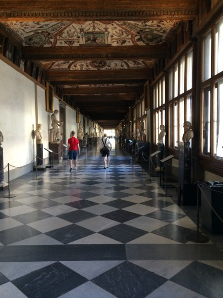 Wait, this can't be the Uffizi....There's nobody here!