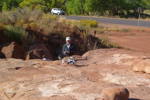 Just about to launch the tricopter setup for a mapping mission of Patokwa. Imaged on 10/3/2014.