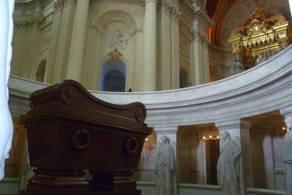 Napoleon's tomb. The little guy is in the big box, which is.....typical.