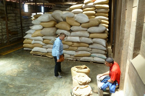 That is one crapload of coffee in Doka's aging shed.