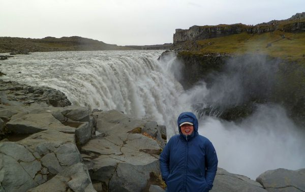 Dettifoss. And that poor, put-upon person in the foreground is NOT overdressed for the nasty, cold weather.