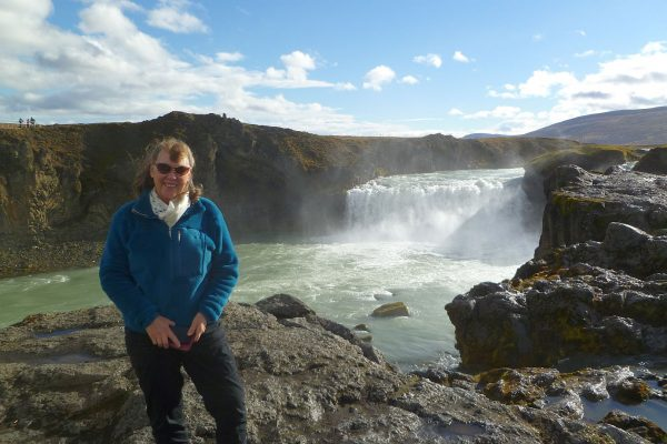 Godafoss. And yes, that is actually sun!