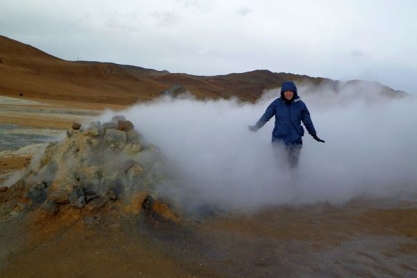 How they do steam cleaning in Iceland. And that fumarole wasn't just wisping, it was roaring like a jet engine.