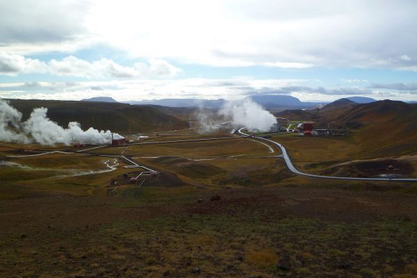 The geothermal plant near Kafla.