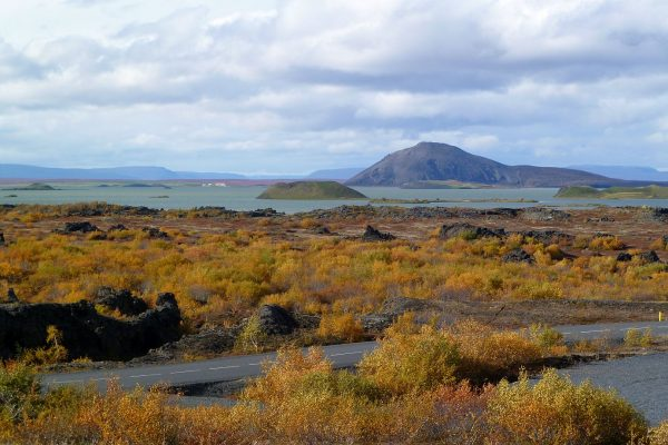 Lake Myvatn, with Fall colors in full force.