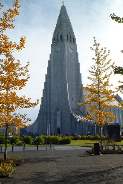 The Hallgrímskirkja church in Reykjavik, because everyone who comes to Reykjavik has to take a picture of this church. I think it's the law, and they won't let you leave until you do it.