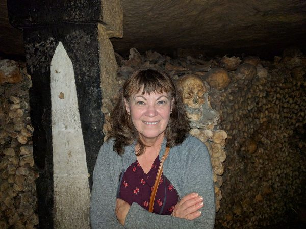 In the Paris Catacombs. I didn't intend for this to be a before/after, but ya know.....