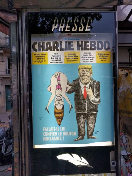 "Ah, good ol' Charlie Hebdo: ""Should he be given the nuclear button?"" It was the first time I laughed since the election."