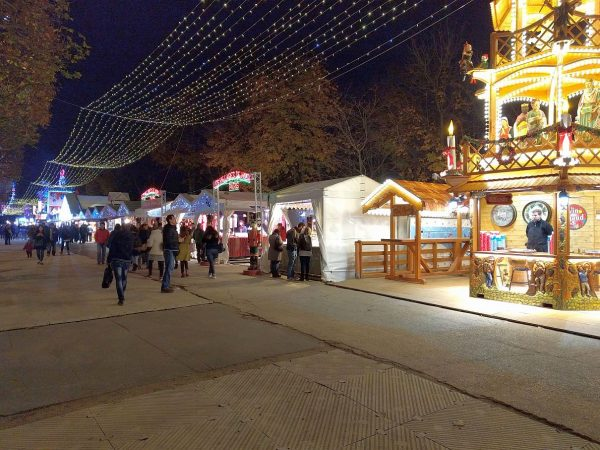 Just a tiny portion of the Christmas Village along the Champs-Elysées that stretched for about a half mile on both sides of the street.