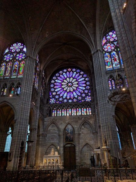 The interior of the Basilica of Saint Denis