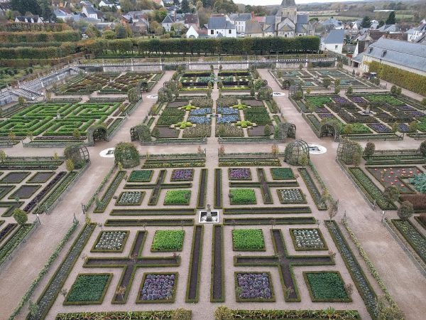 Just a fraction of the Villandry gardens. As was typical for this trip, no one around.